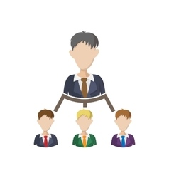 Company structure icon cartoon style vector image