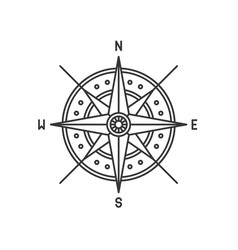 compass wind rose icon sign on white background vector image