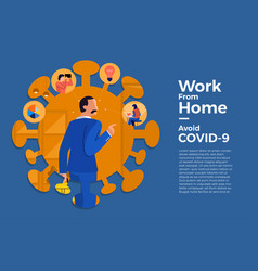 Covid-19 work from home 12 vector