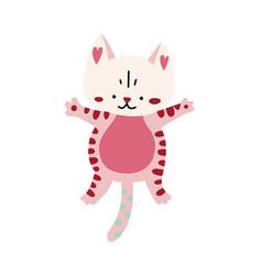 cute cartoon kitten icon vector image