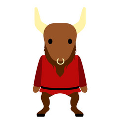 Cute minotaur icon vector
