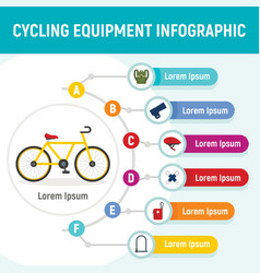cycling equipment infographic flat style vector image