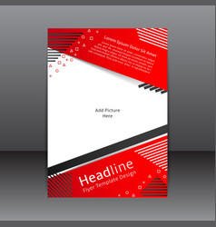 design of the red and white flyer and cover vector image