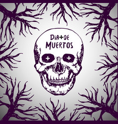 dia de muertos - mexican background day of the vector image