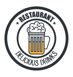 drinks menu restaurant isolated icon vector image