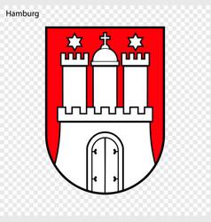 Emblem of hamburg vector