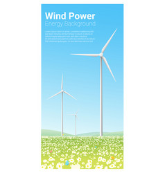 Energy concept background with wind turbine 3 vector