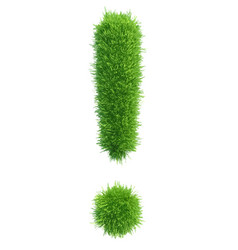 Exclamation mark from grass vector