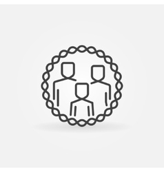 Family outline badge vector