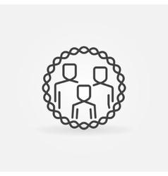 Family outline badge vector
