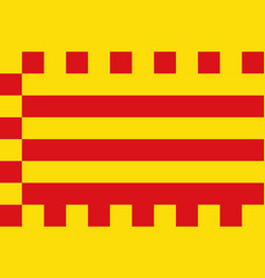 Flag of alt emporda in spain vector
