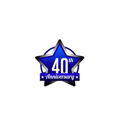 Forty years anniversary badge vector
