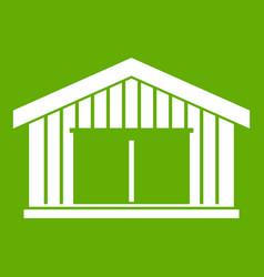 garage icon green vector image