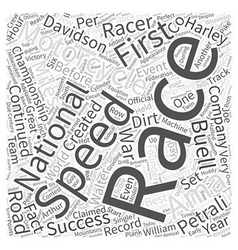 H d racing word cloud concept vector