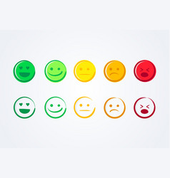 Handdrawn emoticons user experience feedback vector