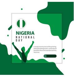 Happy nigeria national day template design vector