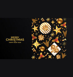 holiday new year card - 2019 on black background 3 vector image