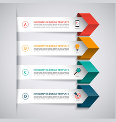 Infographic template with 4 options vector