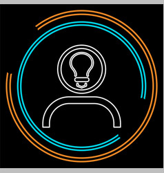innovation idea icon flat innovation vector image