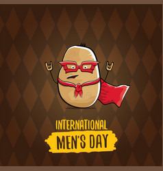 international mens day cartoon greeting vector image