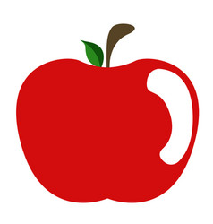 isolated red apple vector image