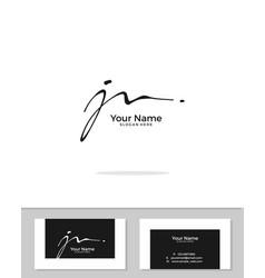 J n jn initial logo signature handwriting vector