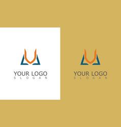 letter v education logo vector image