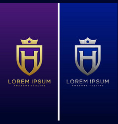 Luxury letter h concept design template vector