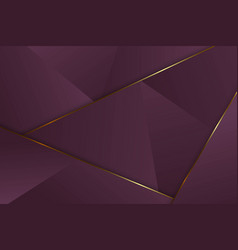 Luxury triangle background vector