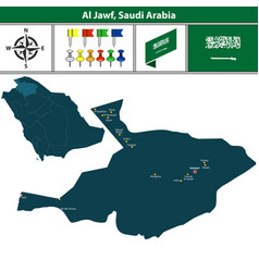 Map of al jawf saudi arabia vector