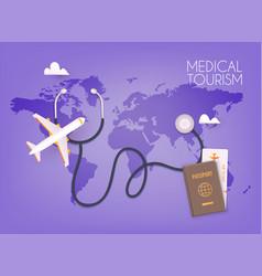 Medical tourism 3d vector