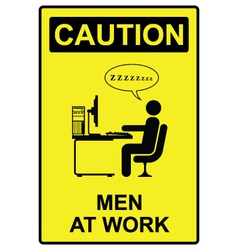 Men at work vector