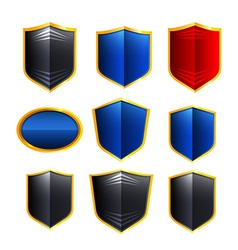 Metal badges vector
