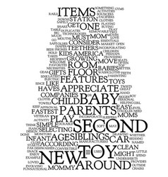 Mommy must haves for second child text vector