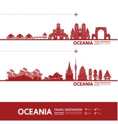 Oceania travel destination vector