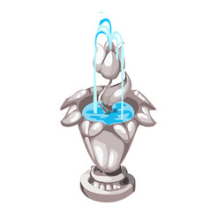 original miniature fountain in the shape of a vector image