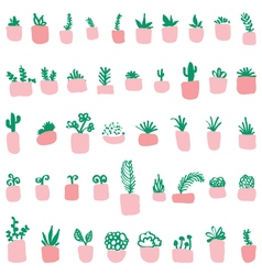 Pattern of the potted plants vector image