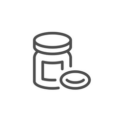 pills line icon vector image