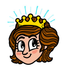 Princess cartoon vector