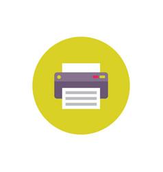 printer - concept icon in flat graphic design vector image