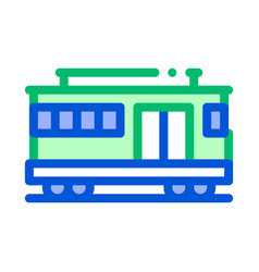 Public transport cable car thin line icon vector