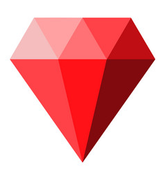 red diamond icon on white background diamond vector image