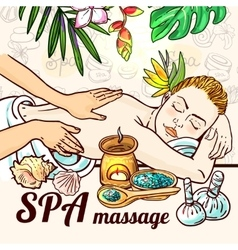 relax spa massage vector image