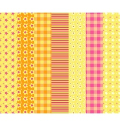 Set of simple seamless pattern 7 vector image