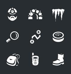 set underground explorer icons vector image