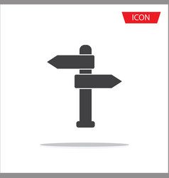signpost pointer icon isolated on white vector image