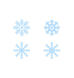 snowflakes icon set vector image
