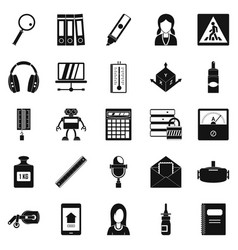 statement icons set simple style vector image