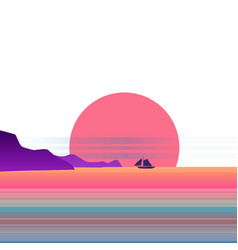 Summer sunny tropical backgrounds seascape vector