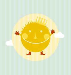 sun portrait vector image